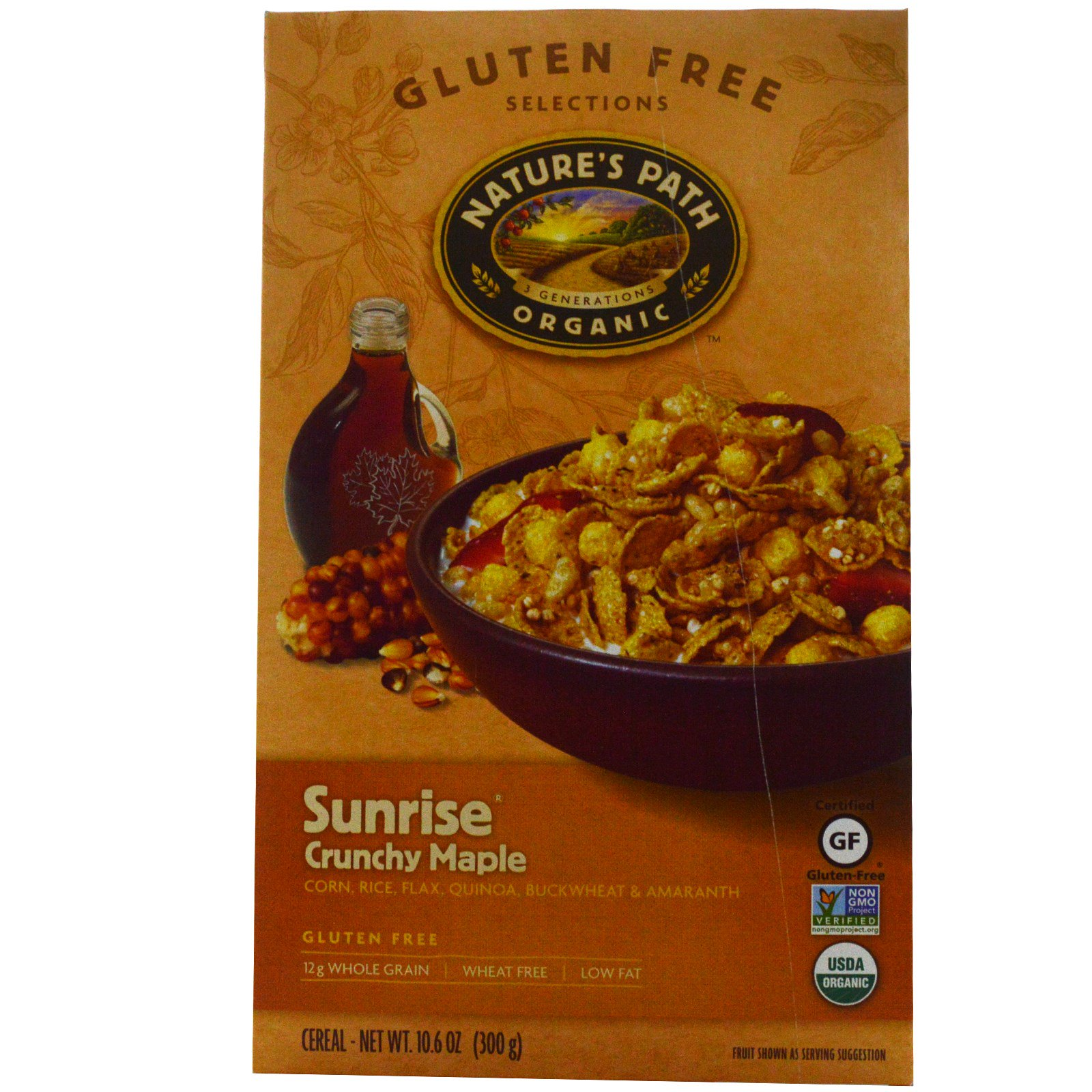 Nature's Path, Organic, Sunrise Crunchy Maple Cereal