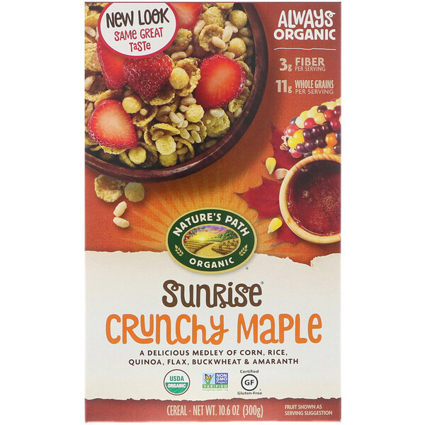 Nature's Path, Organic, Sunrise Crunchy Maple Cereal, Gluten Free, 10.6 oz (300 g)