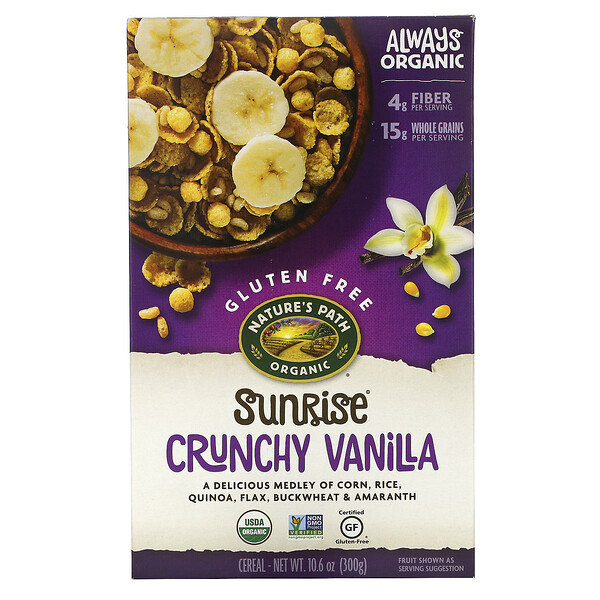 Nature's Path, Sunrise Crunchy Vanilla Cereal , 10.6 oz (300 g)