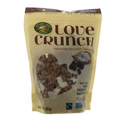 Купить Nature's Path Хруст любви, органическая гранола высшего качества со вкусом печенья макарон с черным шоколадом, 11, 5 унций (325 г)