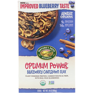 Натурес Пат, Organic Optimum Power Cereal, Blueberry Cinnamon Flax, 14 oz (400 g) отзывы покупателей