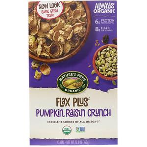 Натурес Пат, Organic, Flax Plus Cereal, Pumpkin Raisin Crunch, 12.3 oz (350 g) отзывы