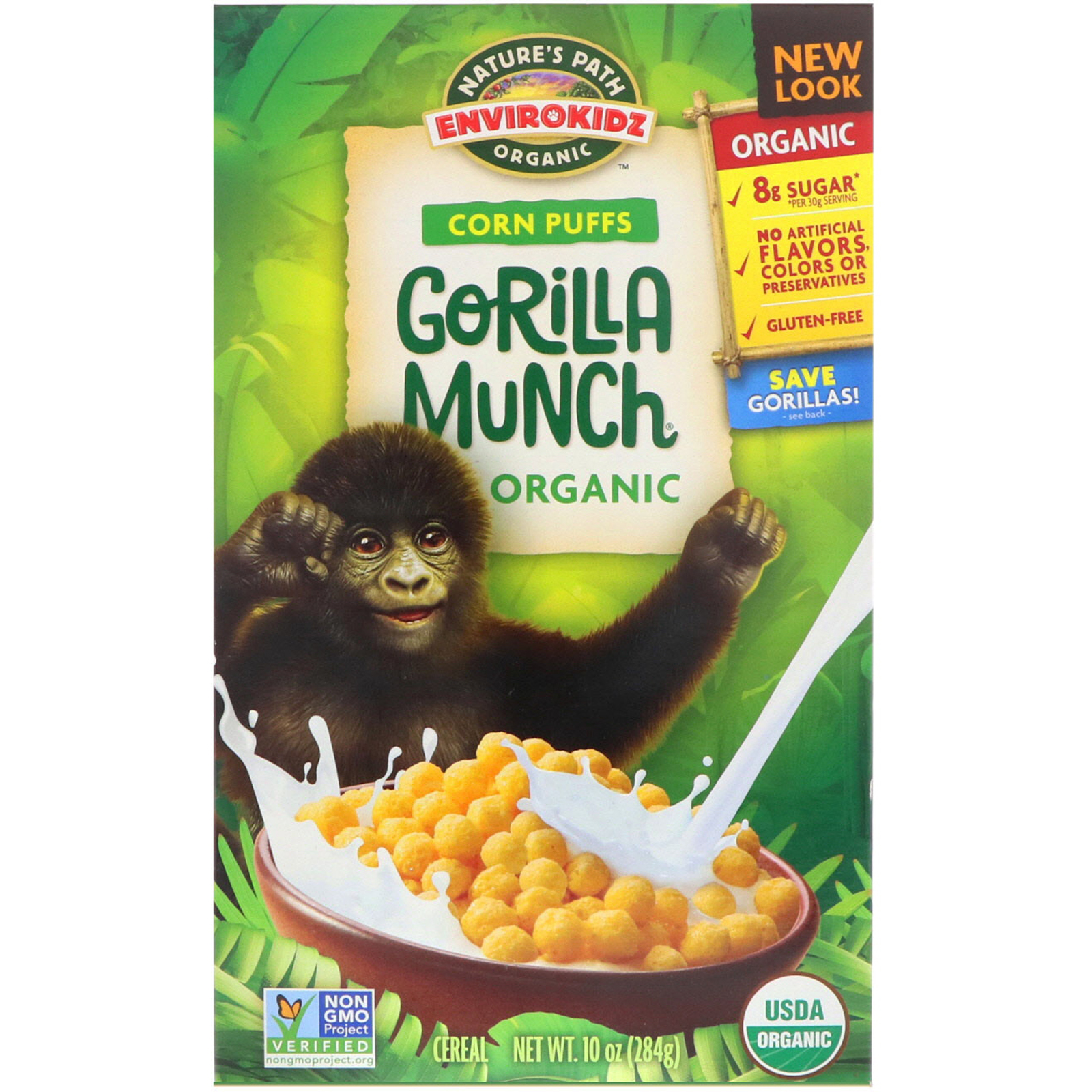 Nature's Path, EnviroKidz, Organic Corn Puffs Gorilla