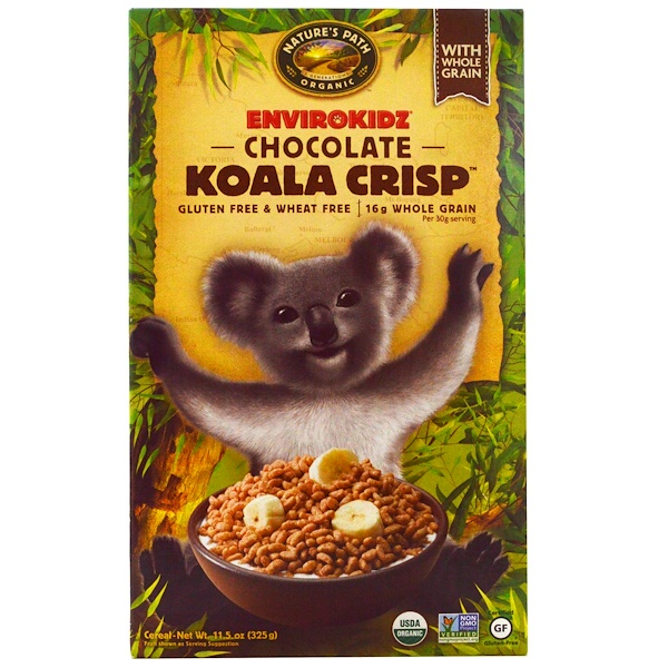 Nature's Path, EnviroKidz, Organic Chocolate Koala Crisp Cereal, 11.5 oz (325 g)