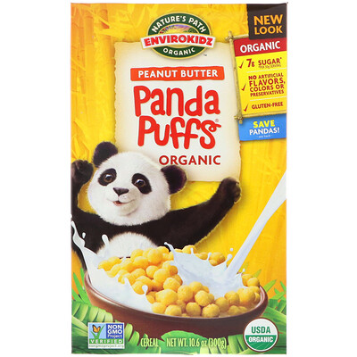 Nature's Path EnviroKidz, Хлопья Panda с органическим арахисовым маслом, 10,6 унций (300 г)
