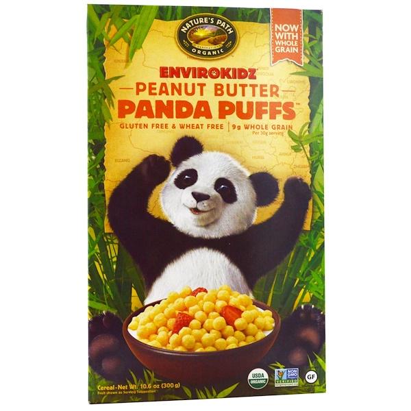 Nature's Path, EnviroKidz, Organic Peanut Butter Panda Puffs, 10.6 oz (300 g)