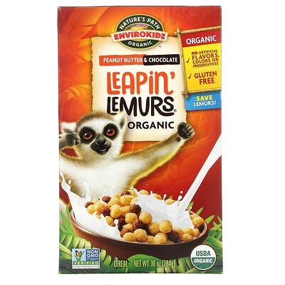 Nature's Path Envirokidz Organic, Leapin' Lemurs Cereal, Peanut Butter & Chocolate, 10 oz (284 g)