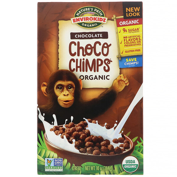 Nature's Path, EnviroKidz, Organic Chocolate Choco Chimps, 10 oz (284 g)