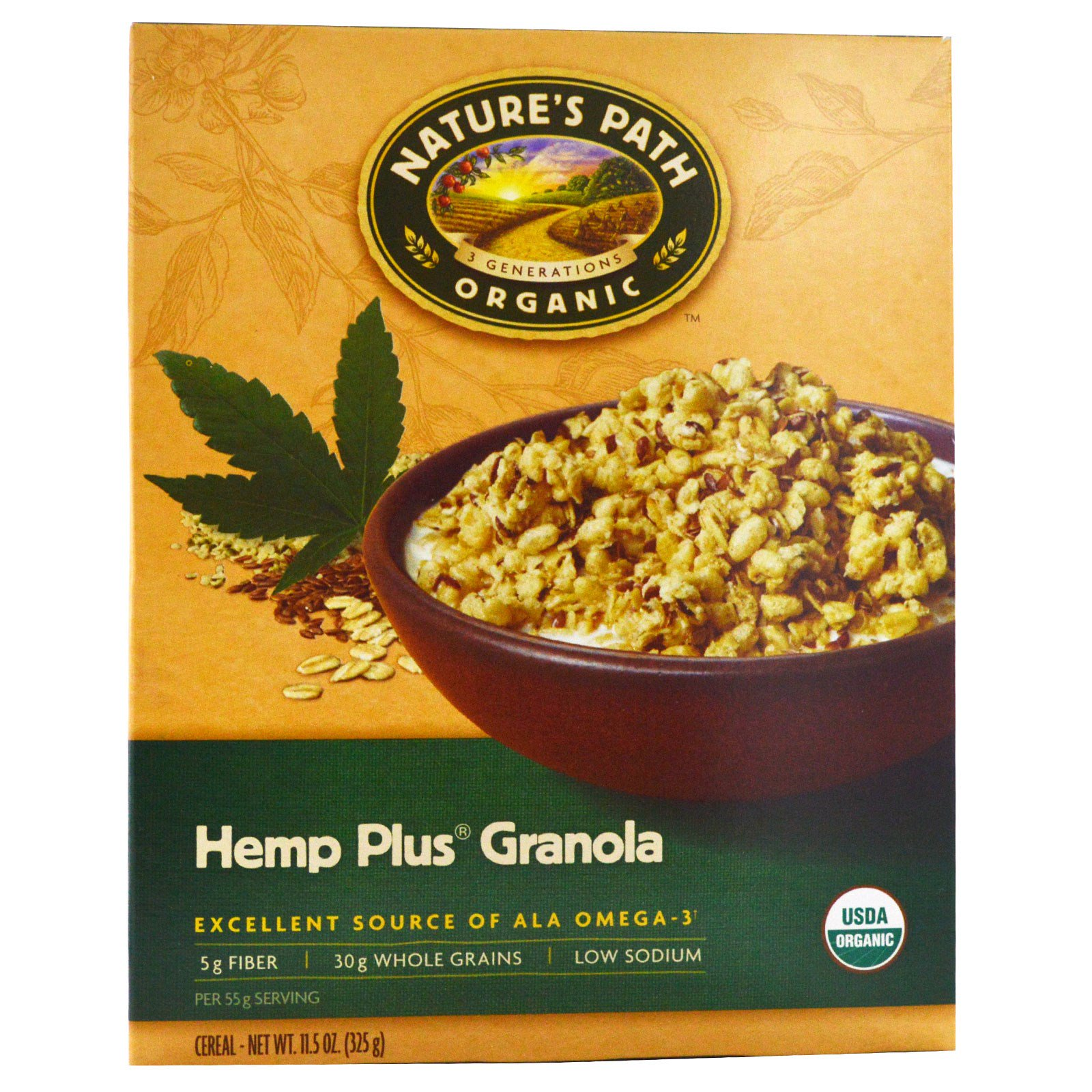 Nature's Path, Organic Hemp Plus Granola Cereal, 11.5 Oz