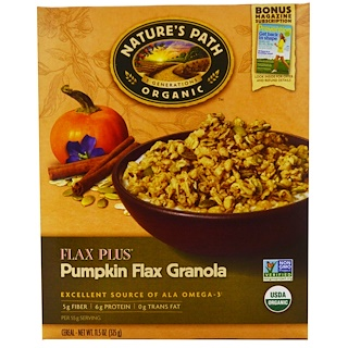 Nature's Path, Organic, Flax Plus, Pumpkin Flax Granola Cereal, 11.5 oz (325 g)