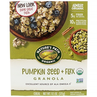 Nature's Path, Organic Pumpkin Seed + Flax Granola Cereal, 11.5 oz (325 g)