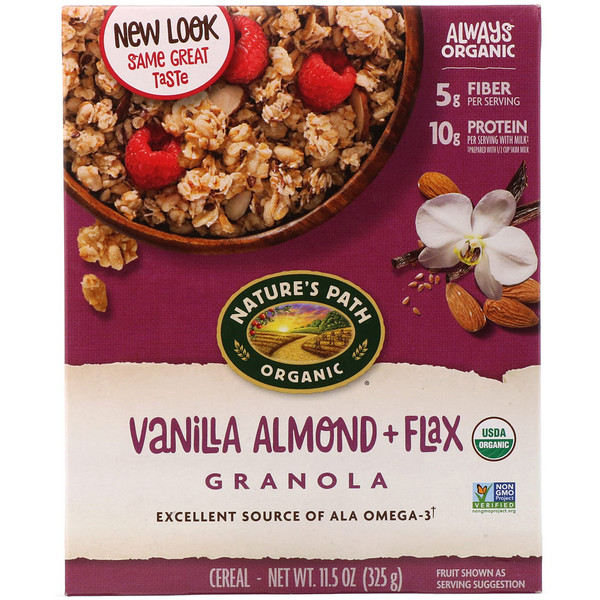 Nature's Path, Organic, Vanilla Almond + Flax Granola Cereal, 11.5 oz (325 g)