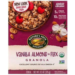 Натурес Пат, Organic, Vanilla Almond + Flax Granola Cereal, 11.5 oz (325 g) отзывы покупателей