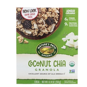 Натурес Пат, Organic Coconut Chia Granola, 12.34 oz (350 g) отзывы покупателей