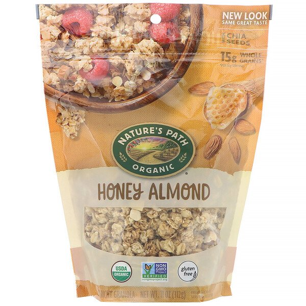 رقائق جرانولا Crunchy Granola, Honey Almond، وزن 11 أونصة (312 جم)
