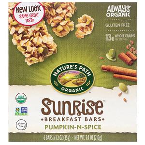 Натурес Пат, Organic, Sunrise Breakfast Bars, Pumpkin-N-Spice, 6 Bars, 1.2 oz (35 g) Each отзывы покупателей