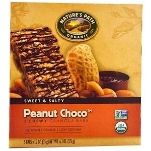 Натурес Пат, Organic, Chewy Granola Bars, Peanut Choco, 5 Bars, 1.2 oz (35 g) Each отзывы