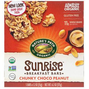 Натурес Пат, Organic, Sunrise Breakfast Bars, Chunky Choco Peanut, 5 Bars, 1.2 oz (35 g) Each отзывы покупателей