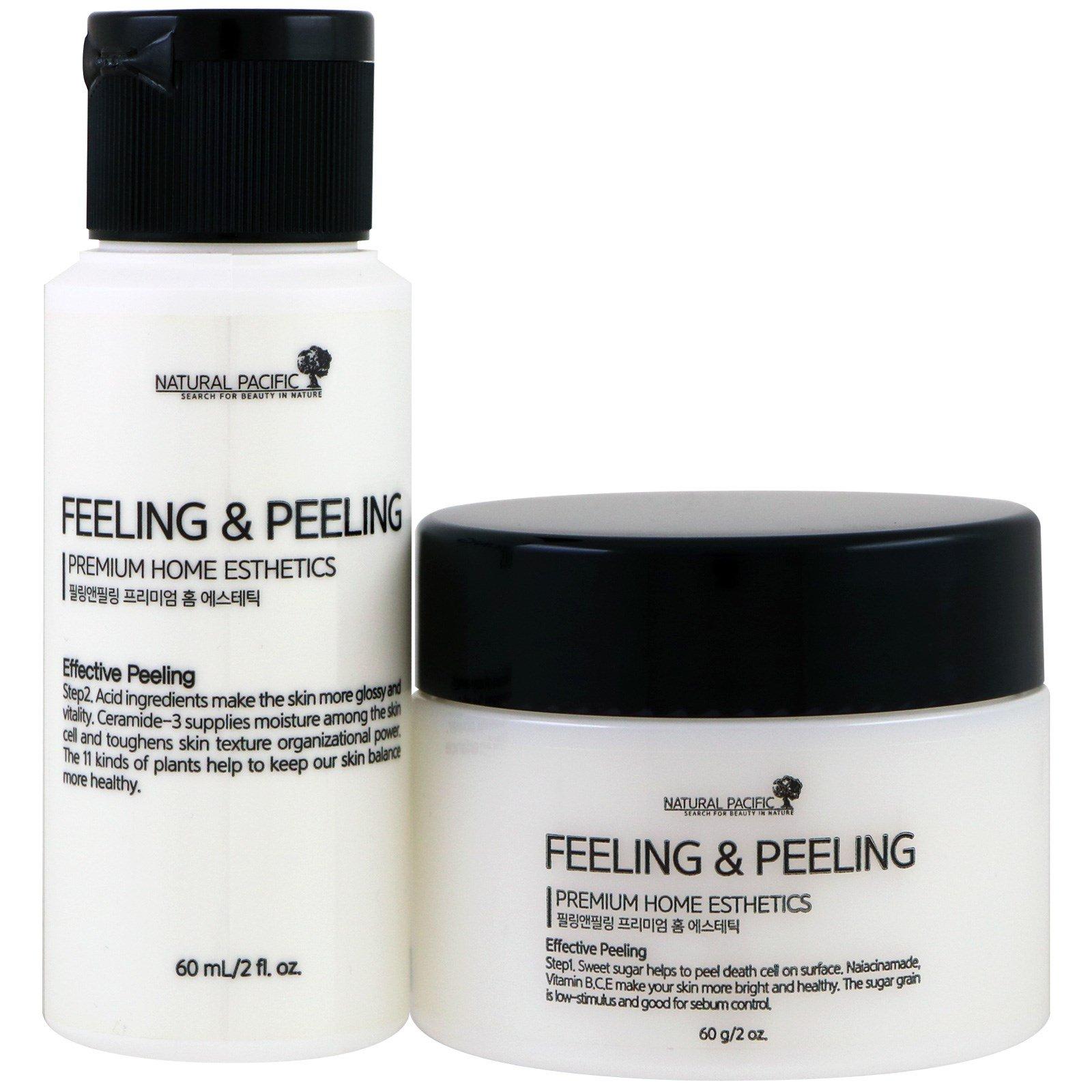Natural Pacific, Feeling & Peeling, Премиальные домашние продукты для красоты, набор из 2 шт.