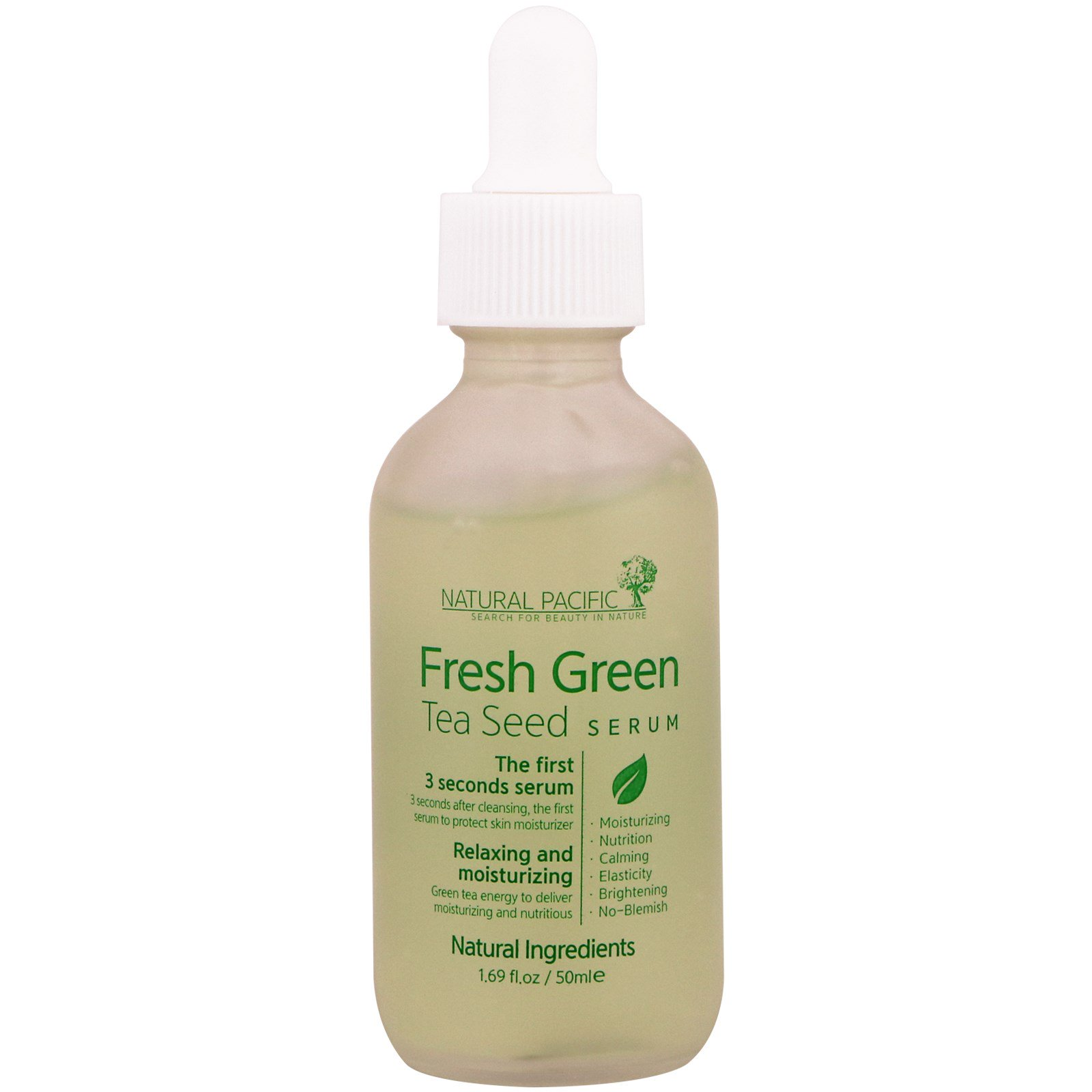 Natural Pacific, Fresh Green, Tea Seed Serum, 1.69 fl oz (50 ml)