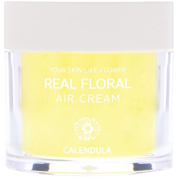 Nacific, Real Floral Cream, Calendula, 3.38 fl oz (100 ml) (Discontinued Item)