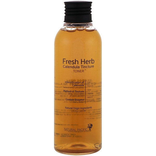 Nacific, Fresh Herb, Calendula Tincture Toner, 6.76 fl oz (200 ml)