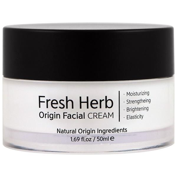 Nacific, Fresh Herb, Origin Facial Cream, 1.69 fl oz (50 ml) (Discontinued Item)