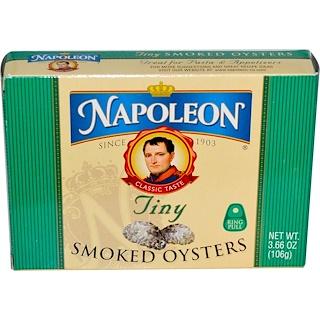 Napoleon Co., Tiny Smoked Oysters, 3.66 oz (106 g)