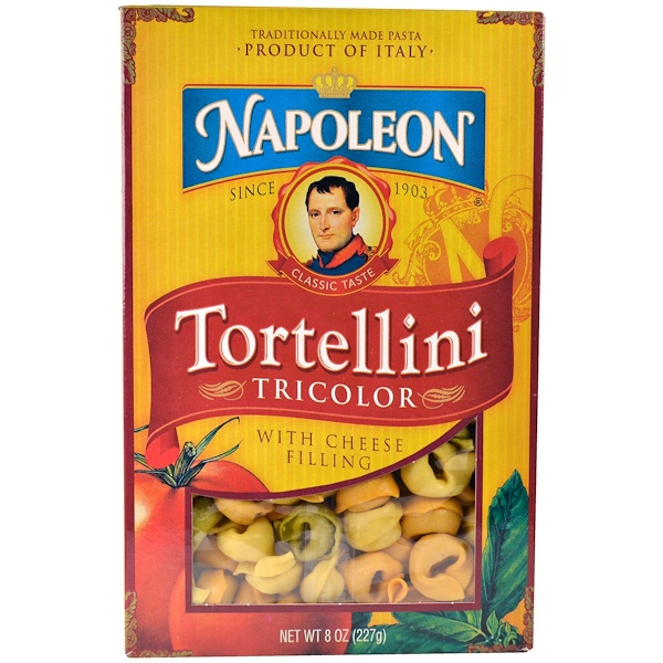 Napoleon Co., Tortellini, Tricolor with Cheese Filling, 8 oz