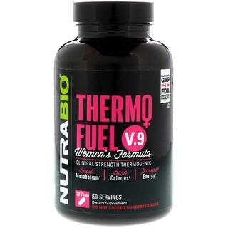 NutraBio Labs, Fórmula ThermoFuel V.9 para Mulheres, 120 Cápsulas Vegetais