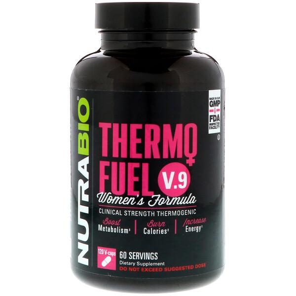 NutraBio Labs, ThermoFuel V.9 fórmula para mujeres, 120 cápsulas vegetales (Discontinued Item)