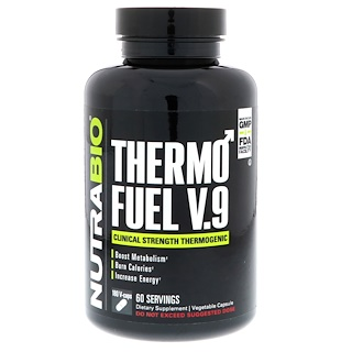 NutraBio Labs, ThermoFuel V9 for Men,180 Vegtable Capsules