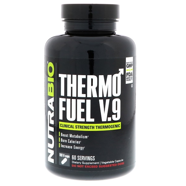 NutraBio Labs, ThermoFuel V.9 for Men, 180 Vegtable Capsules (Discontinued Item)