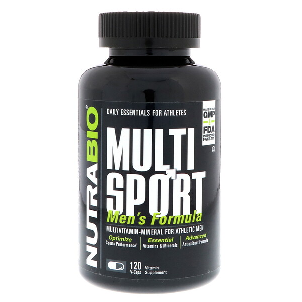NutraBio Labs, MultiSport Men's Formula, 120 V-Caps