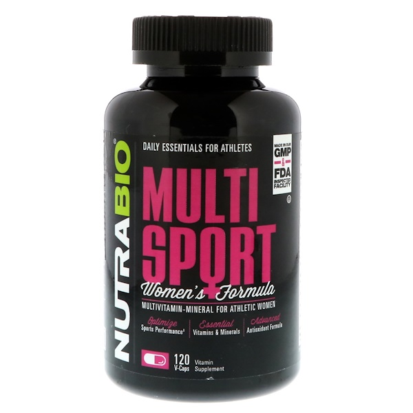 NutraBio Labs, MultiSport Women's Formula, 120 V-Caps (Discontinued Item)
