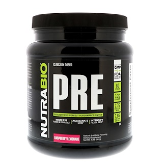 NutraBio Labs, PRE-Workout, Raspberry Lemonade, 1.3 lb (567 g)