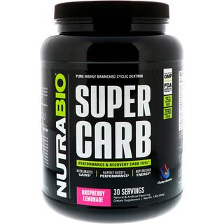 NutraBio Labs, Super Carb, Raspberry Lemonade, 1.8 lb (834 g)