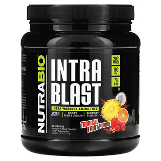 NutraBio Labs, Intra Blast, Intra Workout Amino Fuel, Tropical Fruit Punch, 1.6 lb (717 g)
