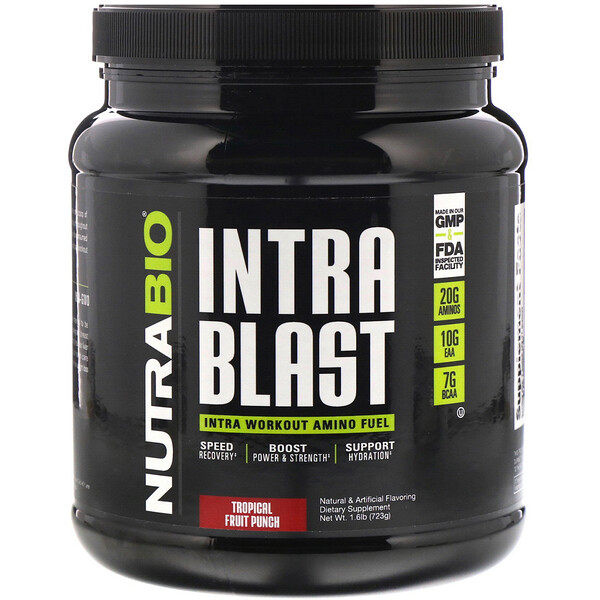 Intra Blast, Intra Workout Amino Fuel, Tropical Fruit Punch, 1.6 lb (723 g)
