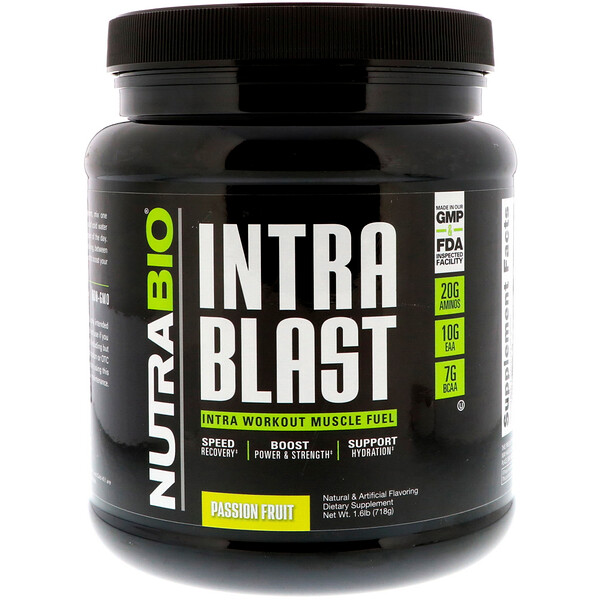 Intra Blast, Intra Workout Muscle Fuel, Passion Fruit, 1.6 lb (718 g)
