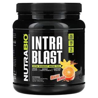 NutraBio Labs, IntraBlast, Combustible muscular intraentrenamiento, Naranja y mango, 724g (1,6lb)