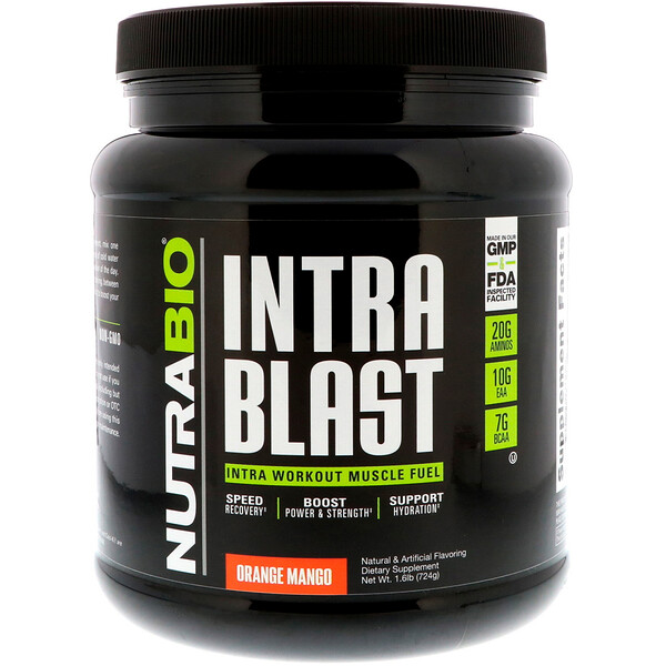 Intra Blast, Intra Workout Muscle Fuel, Orange Mango, 1.6 lb (724 g)