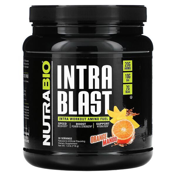 Intra Blast, Intra Workout Amino Fuel, Orange Mango, 1.6 lb (718 g)