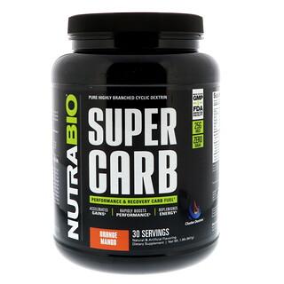 NutraBio Labs, スーパーカーブ、オレンジマンゴー、1.9 lb (841 g)