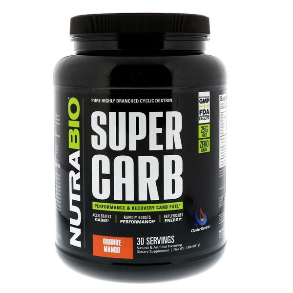 NutraBio Labs, Super Carb, Orange Mango, 1.9 lb (841 g)
