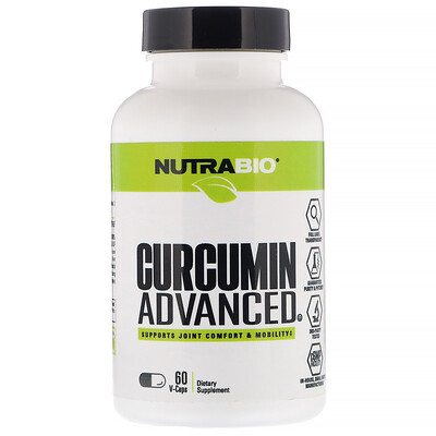 NutraBio Labs Куркумин с улучшенной рецептурой, 60 растительныхкапсул