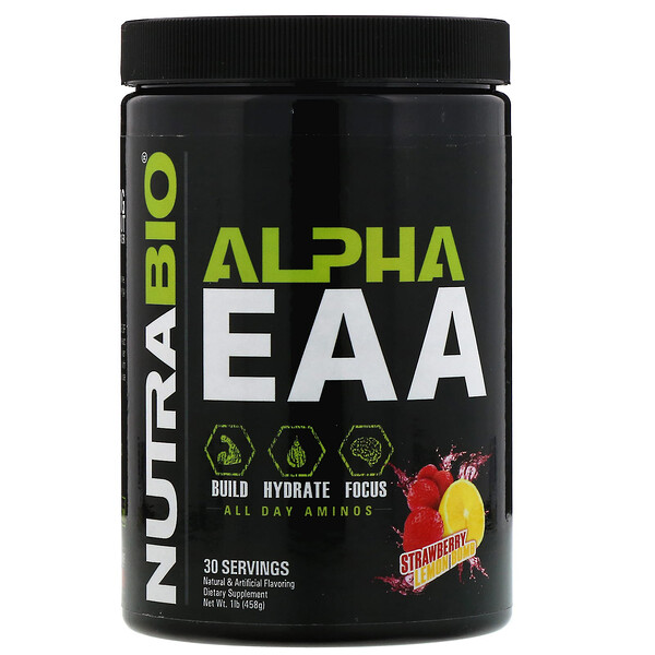 Alpha EAA, Strawberry Lemon Bomb, 458 g (1 lb)