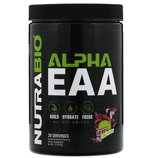 NutraBio Labs, Alpha EAA, Granizado de lima y cereza, 1lb (455g)