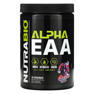 NutraBio Labs, Alpha EAA، نكهة التوت والعنب، .98 رطلًا (444 جم)