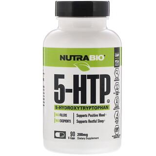 NutraBio Labs, 5-hidroxitriptófano, 200mg, 90 cápsulas vegetarianas